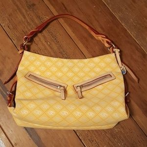 Dooney & Bourke Yellow Initial Pattern Purse